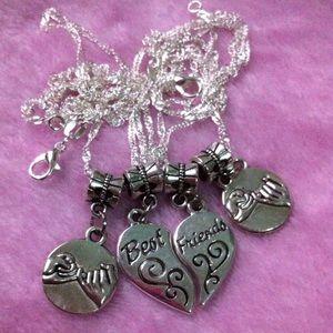 Best Friend Pinky Promise Split Up Necklace